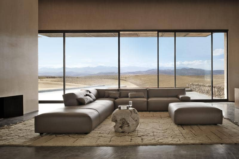 FF Agadir leather sofa