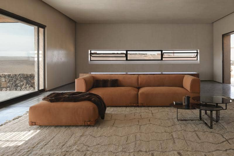FF Soho leather sofa